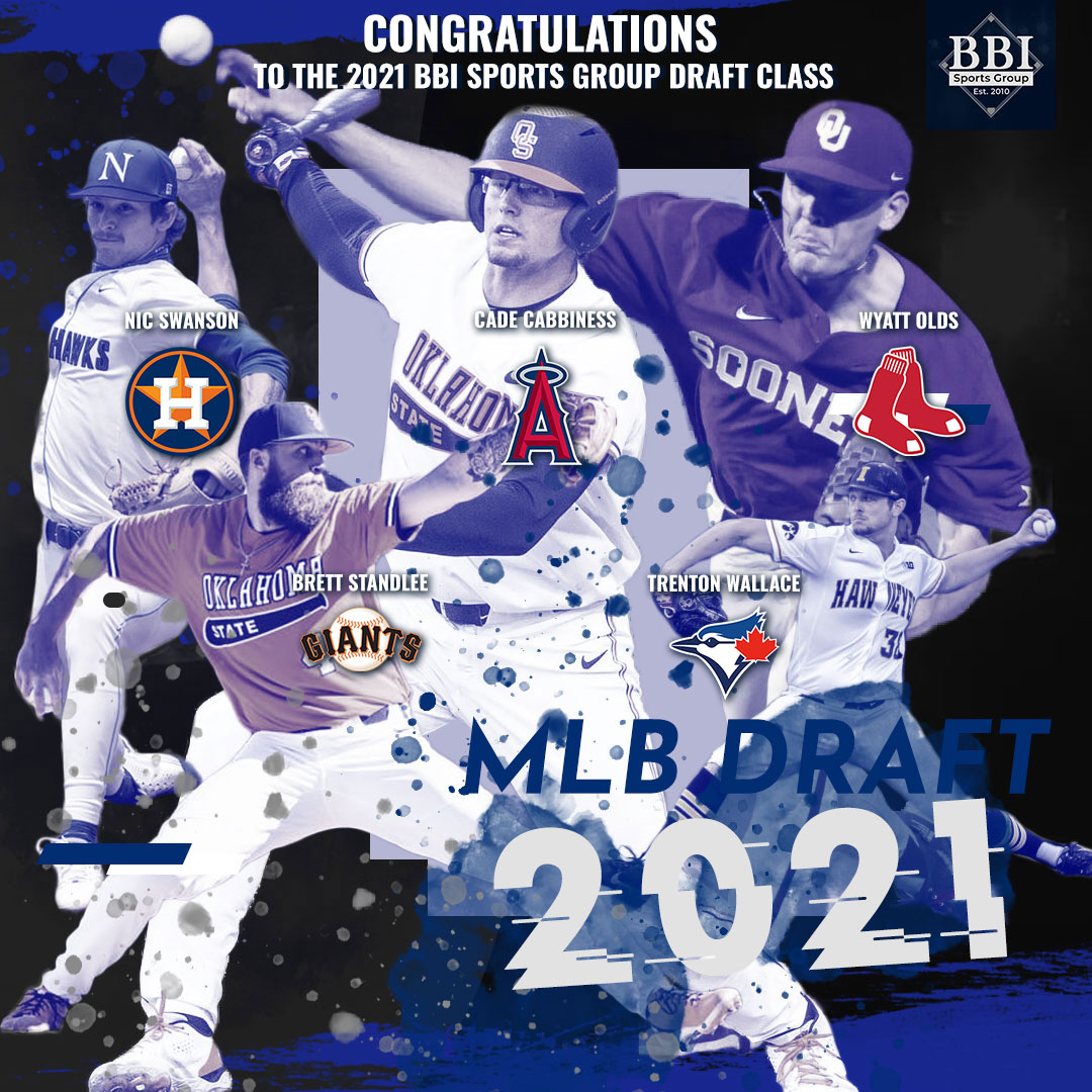 Congratulations to the BBI Sports Group 2021 MLB Draft Class!